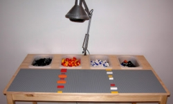 Side Table Made Into Lego Table