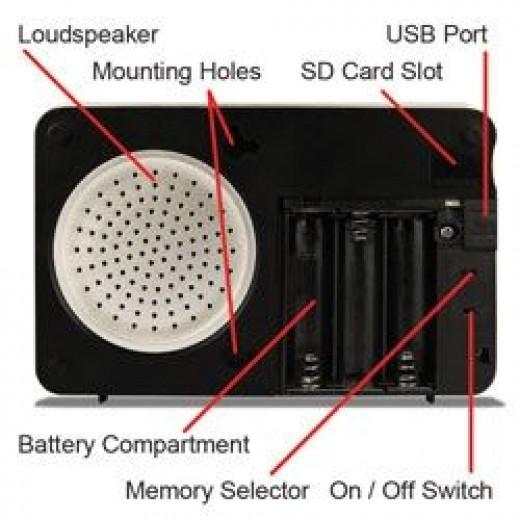 Diagram of Doorbell Plays Songs