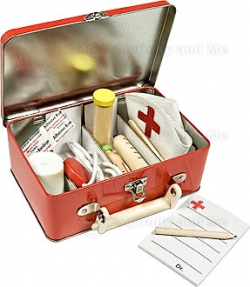 Doctors Medical Kit Tin Childrens Toy Pretend Play