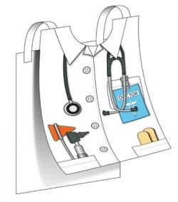 Kids Docter's Paper Vest Craft