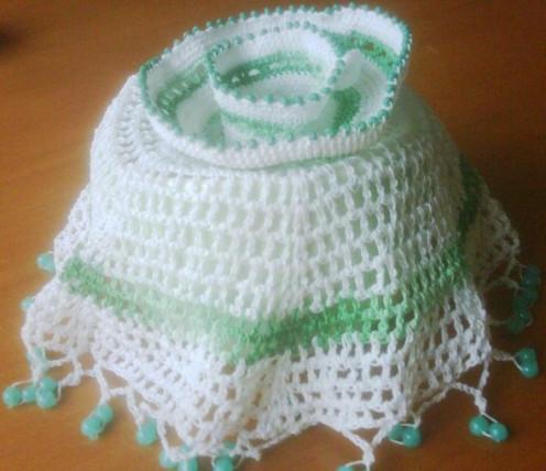 beaded sugar bowl cover