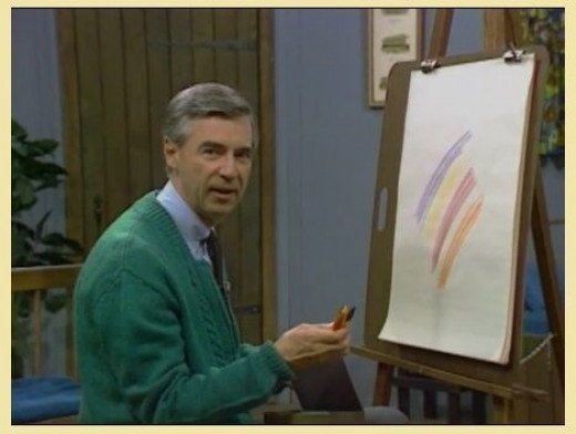Mr Rogers goes to the crayon factory