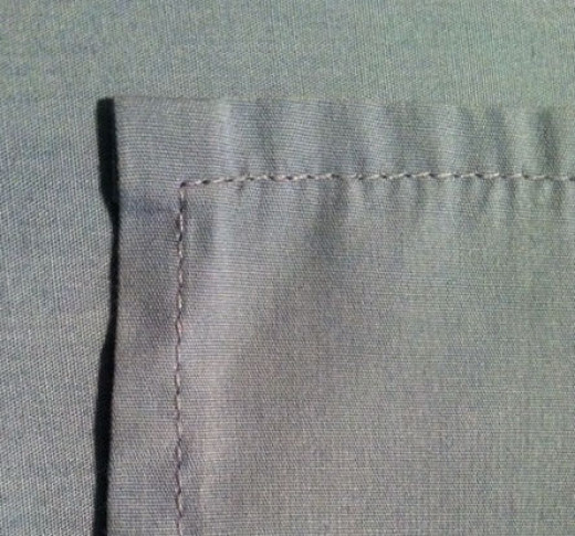 This photo is of the right side of the finished napkin.