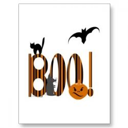 Boo Postcard available at Zazzle.com