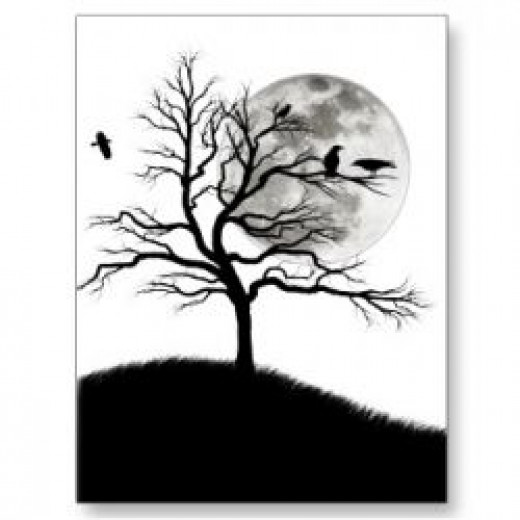Raven Tree Postcard available at Zazzle.com