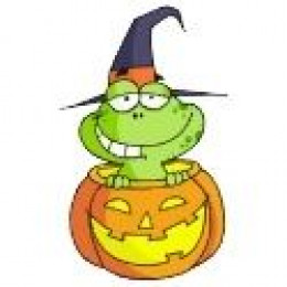 Green Frog Halloween Photo Sculpture available at Zazzle.com