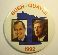 George Bush  and Dan Quayle