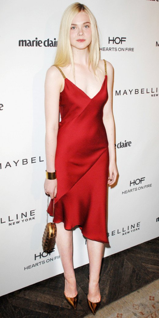Elle Fanning's '90s Slip Dress