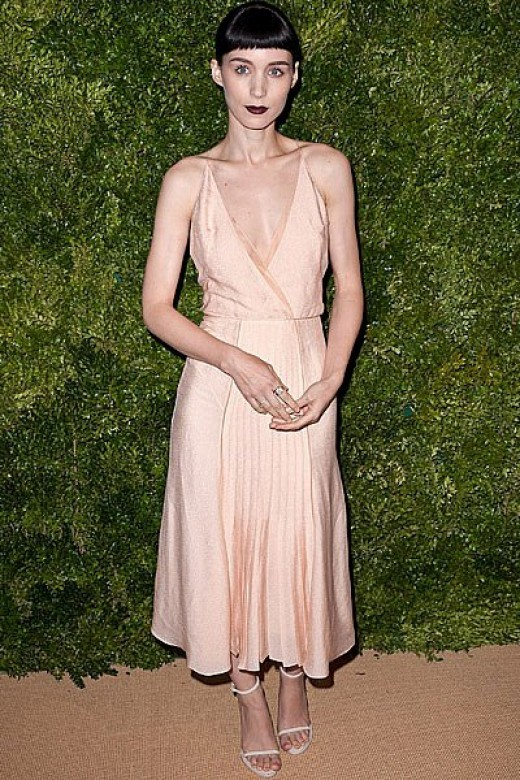 Rooney Mara in Calvin Klein slip2