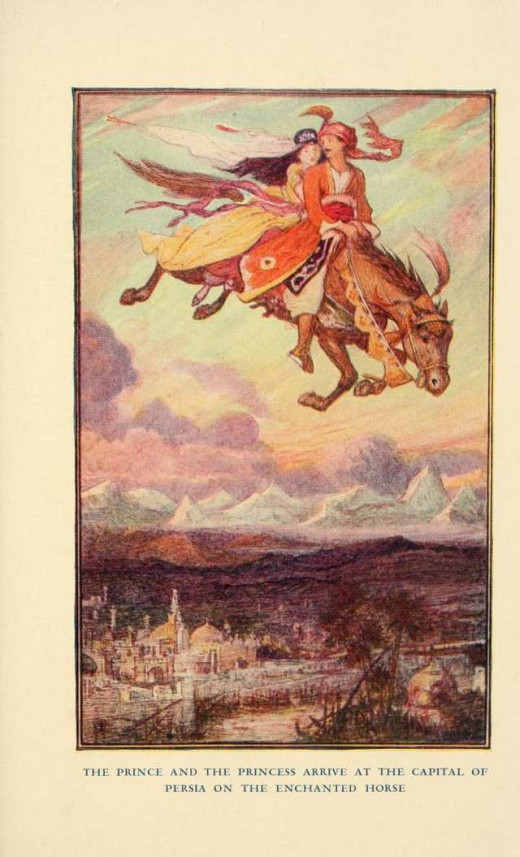 The Prince and the Princess Arrive at the Capital of Persia on the Enchanted Horse