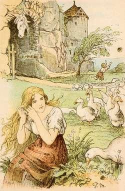 The Goose Girl by Paul Meyerheim, PD license