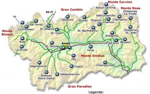 Another map of Aosta.
