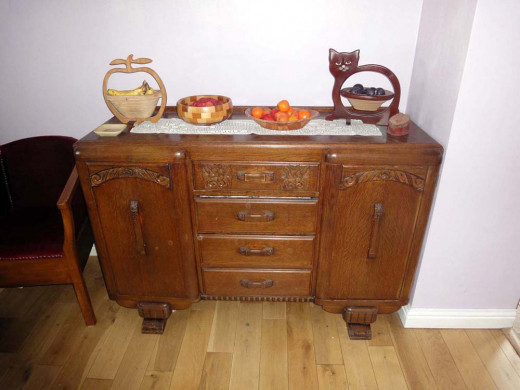 Drawers restored on old sideboard