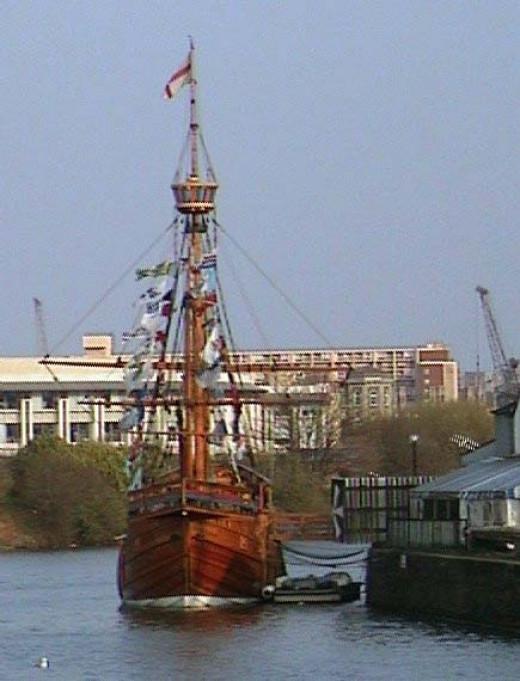 The Replica of the Matthew in Bristol Harbour