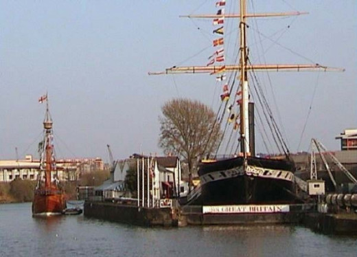 The Matthew next to the SS Great Britain (built by Isambard Kingdom Brunel) indicates how small the Matthew was.