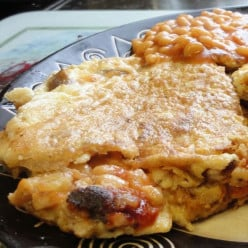 Mashed Potato and Cheese Omelette Recipe