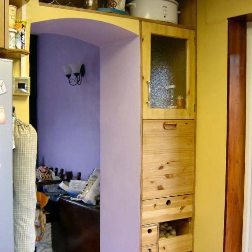 New built in larder in the kitchen