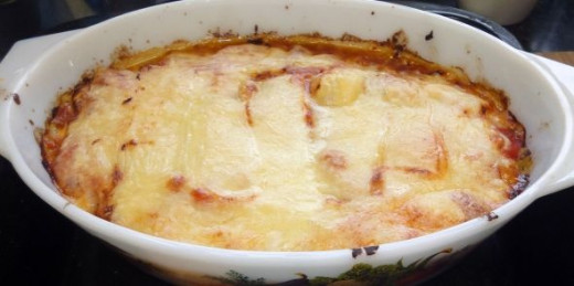 Roast Potato and cheese pie