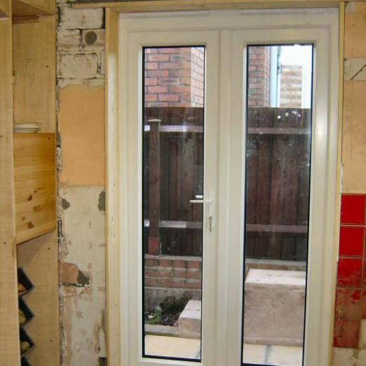 New Kitchen door during construction