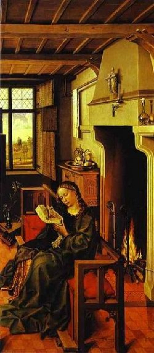 Saint Barbara in her tower by Robert Campin 1483 From the Prado Museum.