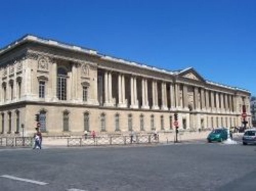 Louvre - picture of section built under Perrault's guidance