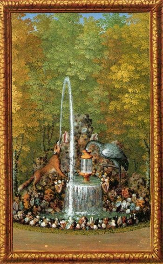 Scene from The Fox and the Crane