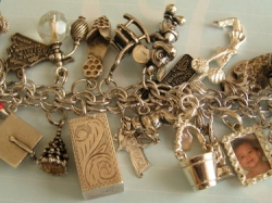 Dangle Charm Bracelet With Mini Photo Frame Charms