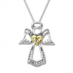 Angel White Diamond Pendant Necklace gift for Valentine Day