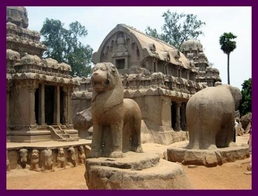 Five Stone Chariots -  Mahabalipuram