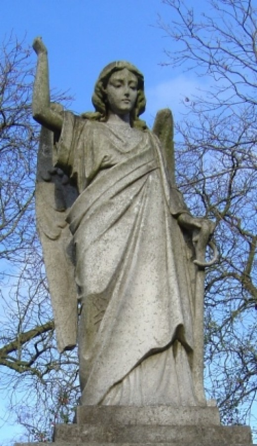 A stone angel from Highgate