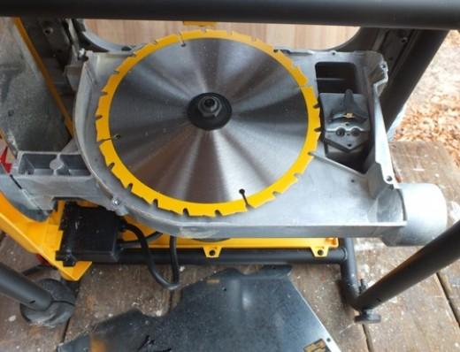 Detail Of Saw Blade Storage Under