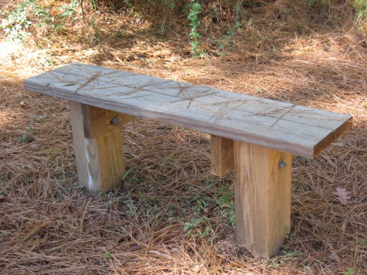 Close Up Of Completed Bench