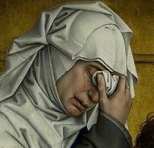 Rogier van der Weyden (1399/14001464) Detail from Descent from the Cross.
