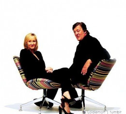 J K Rowling and Stephen Fry