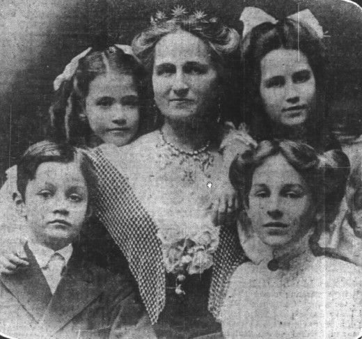 Rose Selfridge and her children