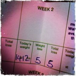 I lost 5lb on weight watchers