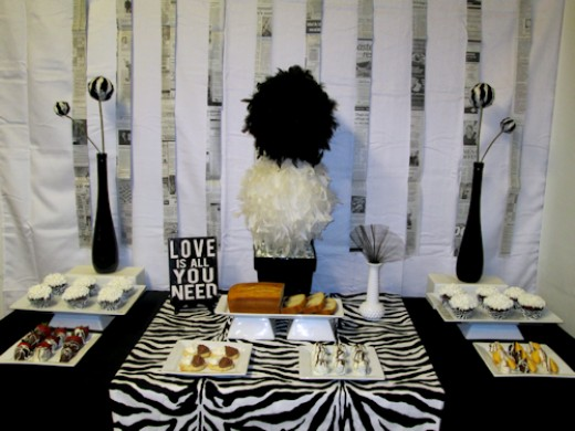 Dessert Buffet Table D 233 Cor Ideas Black And White Party