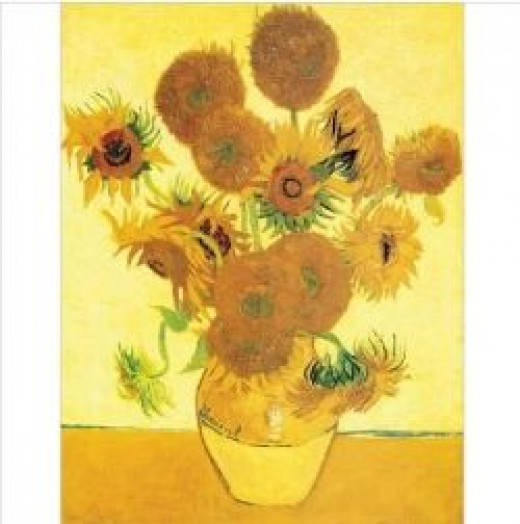 Some of the most famous paintings in yellow are Van Gogh's Sunflower series