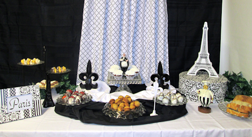 One last look at the traditionally set up dessert table