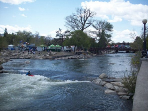Reno Truckee River Festival from the Riverwalk