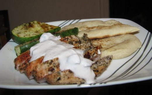 Grilling Chicken with Yogurt Sauce