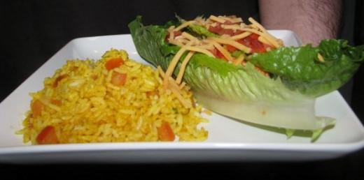 Chicken âTacosâ with Rice