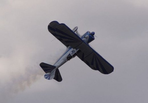 Biplane Flying in Reno Air Race