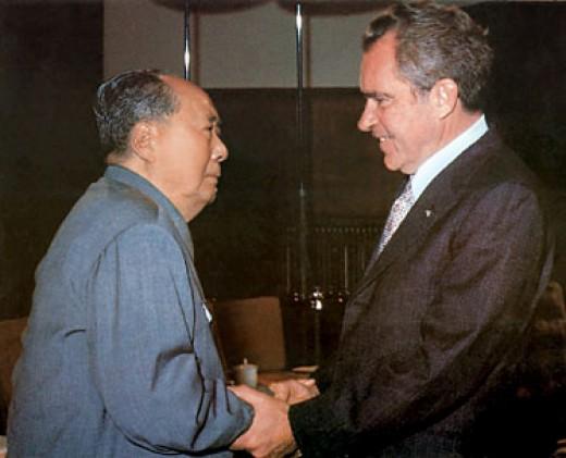 President Nixon and Chairman Mao