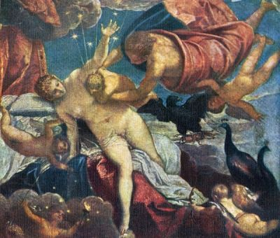 The Origin of the Milky Way by Tintoretto