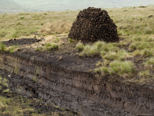 Peat Cutting, Connemara, County Galway