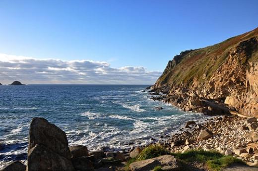 The beautiful Cornish coastline