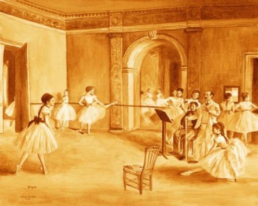 Ballet Class by Karen Eland