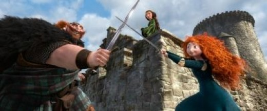 Merida is definitely closer to her father than her mother.
