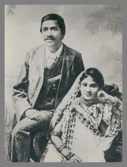 Aurobindo with his Wife
